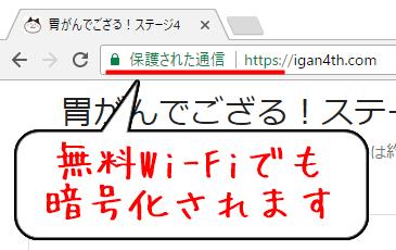 無料Wi-Fiでも暗号化される常時SSL(https)化