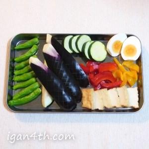 トッピング(夏野菜+α)