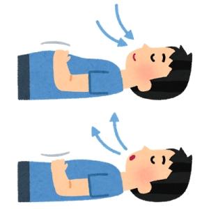 腹式呼吸(寝て、横になって)