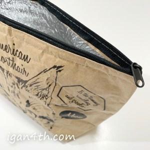「足用」の保冷バッグはチャックが便利